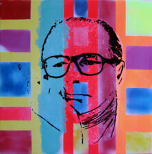 president chirac TABLEAU pop street art graffiti PyB painting canvas french sign