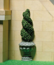 Flat Backed Topiary Twist, Dolls House Miniature Garden Plants 1.12 Scale