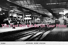 DR 538 - Derby Railway Station Interior, Midland Railway, Derbyshire c1909 Photo