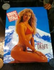 "1991 Rainier Draft Beer Poster Pin Up Girl Nos Mint 20""x 15"""