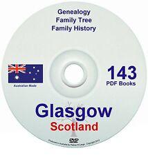 Family History Tree Genealogy Glasgow Scotland 143 historic books new DVD