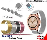 Milanese Magnetic Stainless Wrist Band Strap For Samsung Galaxy Gear 42mm & 46mm