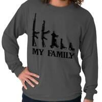Family AK47 M16 SMG USA Shirt   2nd Amendment American Guns Long Sleeve Tee