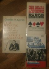 lot of 3 vtg pbs charles h. goren how to play winning bridge play with the aces