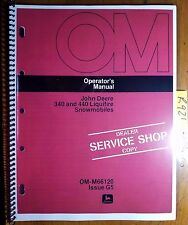 John Deere 340 440 Liquifire Snowmobile S/N 55001-70000 Owner Operator Manual 75