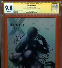 Death of X #1 (Mike Choi Cover) SS CGC 9.8 Signed by Aaron Kuder & Charles Soule