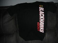 New NHL Chicago Blackhawks Youth Medium Team Apparel T-Shirt Hockey Black