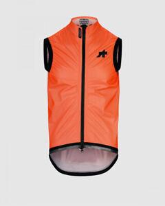 Assos Equipe RS Schlosshund Rain Vest Men MEDIUM Fluorescent Orange Road Bike