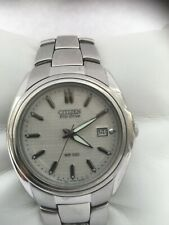 Citizen Unisex Eco Drive  Date Silver Dial Model  F810- S005345  watch