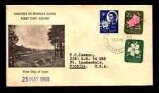 Norfolk Islands 1960 Flowers FDC / Minor Toning (II) - L9050
