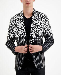 INC International Concepts INC Mens Black Isaac Slim-Fit Blazer Sport Coat Large
