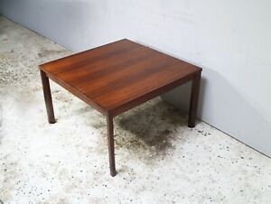 1960's mid century modern Danish solid rosewood coffee table