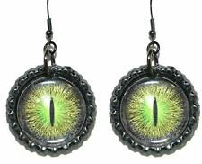 FUN ROUND DRAGON EYE DANGLE EARRINGS (CAP048c)