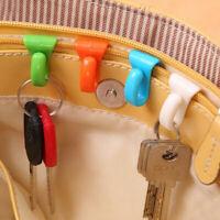 2× Attached Key Clip Hook Hanger Inside Bag Purse Backpack Luggage Keycha Re