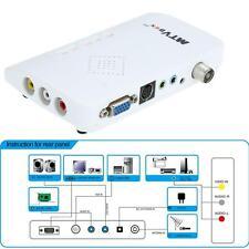 LCD TV Box Digital Computer to PC VGA AV S-Video Analog Tuner CRT Monitor F4F9