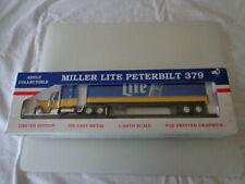LIBERTY CLASSICS DIE-CAST 1/64 PETERBILT MILLER LIGHT BEER TRACTOR TRAILER