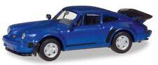 Porsche 911 Turbo bleu métallisé - Herpa - Echelle 1/87 (Ho)