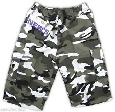 Shorts gris en polyester pour garçon de 2 à 16 ans