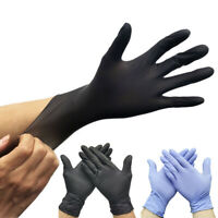 100pcs Single Use Gloves Black Nitrile Gloves for Cleaning Kitchen Powder-free M