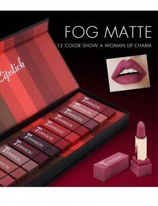 12 Color Matte Velvet Lip Stick Kit Moisturizing Long-Lasting Waterproof Lipstic