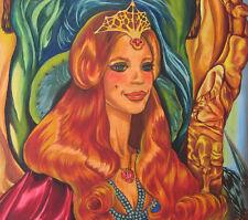 EDGAR ALLEN POE LIGEIA LADY ROWENA Painting -SHERRY WHEELER FILMATION ANIMATION