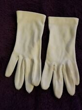 Vintage ladies Dress Up Antique White Gloves Small