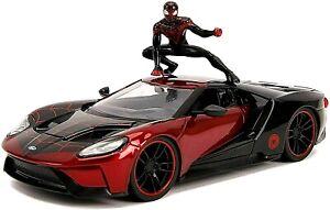 1:24 Diecast Model Car > Spider-Man Miles Morales 2017 Ford GT  Hollywood Rides