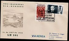 """Erstflug LH """"Rio de Janairo - Genf"""" 31.08.1966 !!  HS 869 -selten-"""