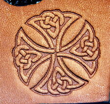 Celtic Knoted Cross Leather Embossing / Clicker Stamp, Delrin / Acetal, NEW #016