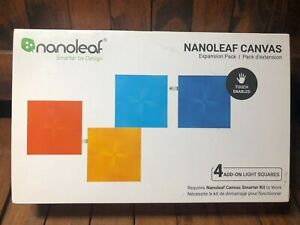 Nanoleaf Canvas Light Squares - Expansion Pack - 4 Tiles/Panels - Sealed