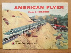 1956 AMERICAN FLYER TRAIN & ACCESSORIES CATALOG, 52 Pages, Full Color