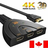 3 Port HDMI Switcher AV Switch Selector Adapter Converter Splitter Hub HDTV PC