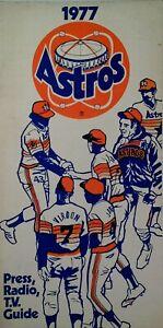 Houston Astros MLB Press Radio TV Guide Rare VHTF 1977
