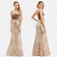 Ever-Pretty Bodycon Wedding Dress Long Sequins Fishtail Bridesmaid Gowns 00970