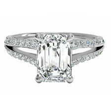 Emerald-Cut Diamond 14k White Gold 2.50 Ct Solitaire Engagement Wedding Ring