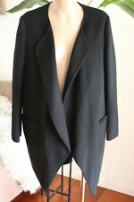 Witchery Black wrap front coat size 4  70% wool