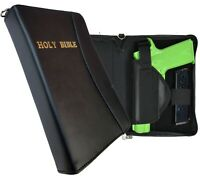 Leather Bible Gun Case for Carry or Storage with Gold Letters for LG & SM Guns