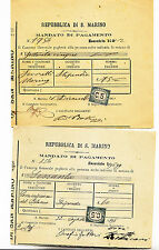 S287-S.MARINO-CENT 5 MARCA DA BOLLO 2 SU 2 DOCUMENTI