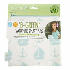 Woombie B-Green Snack Bags (Blue Splash Ele, One Size)
