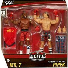 WWE Mr. T & Roddy Piper - Elite 2-Pack Figures Ringbell & More