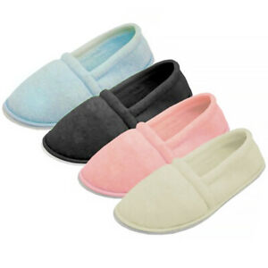 Womens Slippers House Shoes Terry Slip On Soft Comfort Color Pastel