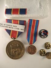 Army occupatuon of Puerto Rico medal #1657 ribbon bar rosette miniature