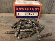 Verpackung 100 NOS Original Faser Dübel 3.8cm x 14 Rawlpugs Vintage