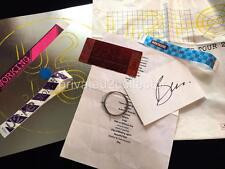 U2 - EDGE PICK, STRING, SET LIST, PASSES, BOOK, BAG, AUTOGRAPH - 2015 I&E TOUR