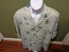 Tommy Bahama SEA SHELL LOBSTER SILK CAMP SHIRT SIZE ADULT LARGE