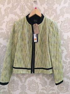 BNWT M&S Lime Mix Boucle Jacket SIZE 10 UK New