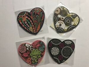 Vera Bradley Heart Shaped Nail Files - 4 Limited Edition patterns - NWT