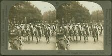 French Colonial (Morocco) Cavalry in Paris - WW1 Stereoview