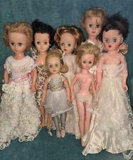 lot 7 vintage high heel fashion dolls~belle margie~uneeda~14R1~horsma n~unmarked