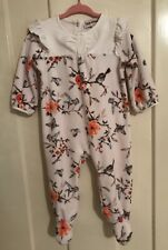 Juicy Couture Baby Girl Velour Babygrow 6-9 Months